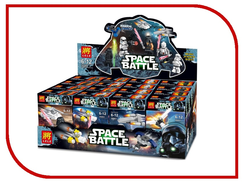 Конструктор Lele Space Battle Темная сторона 8шт 35001