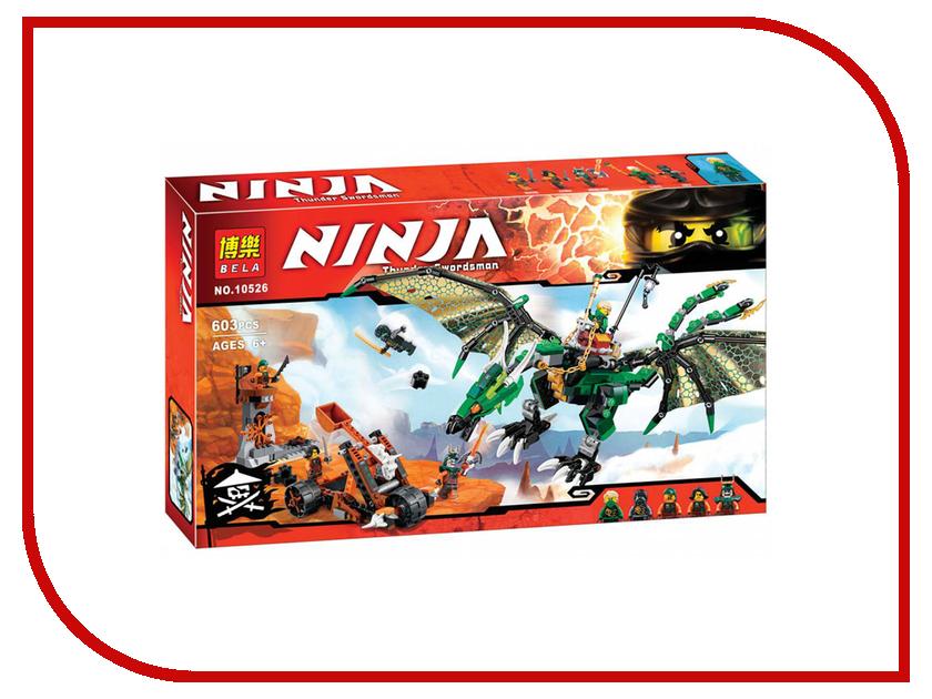 Конструктор Bela Ninja Зелёный Дракон 603 дет. 10526 конструктор bela ninja ниндзя сверхзвуковой рейдер 645 дет 31041