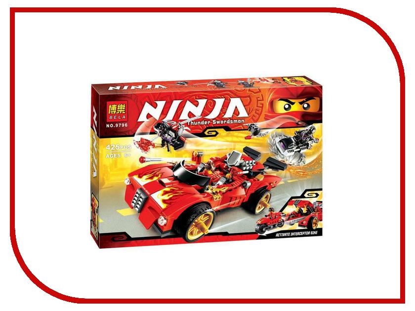 Конструктор Bela Ninja Ниндзя перехватчик Х-1 425 дет. 9796 конструктор bela ninja ниндзя сверхзвуковой рейдер 645 дет 31041