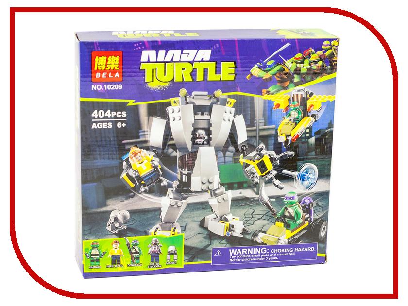 Конструктор Bela Teenage Mutant Ninja Turtles Нападение робота Бакстера 404 дет. 10209 конструктор bela ninja ниндзя сверхзвуковой рейдер 645 дет 31041