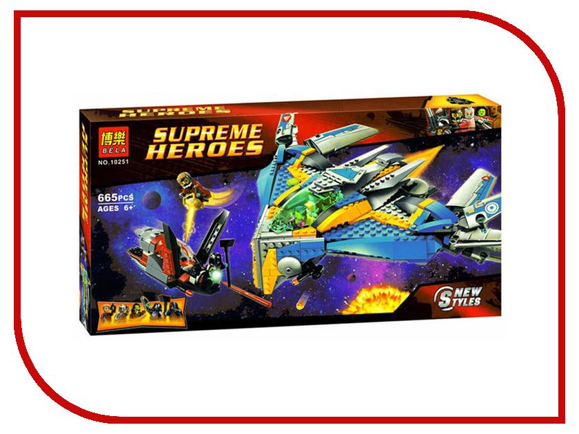 Конструктор Bela Supreme Heroes Стражи Галактики Спасение на космическом корабле 665 дет. 10251 ложь во спасение