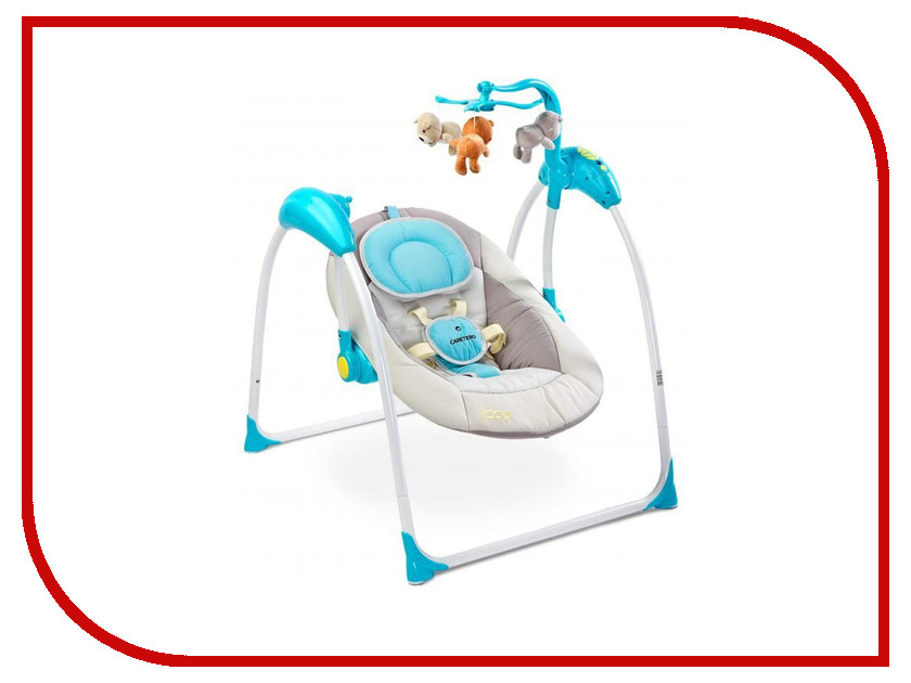 Электрокачели Caretero Loop Blue Tero-8086 стульчик для кормления caretero pop green зеленый tero 7264