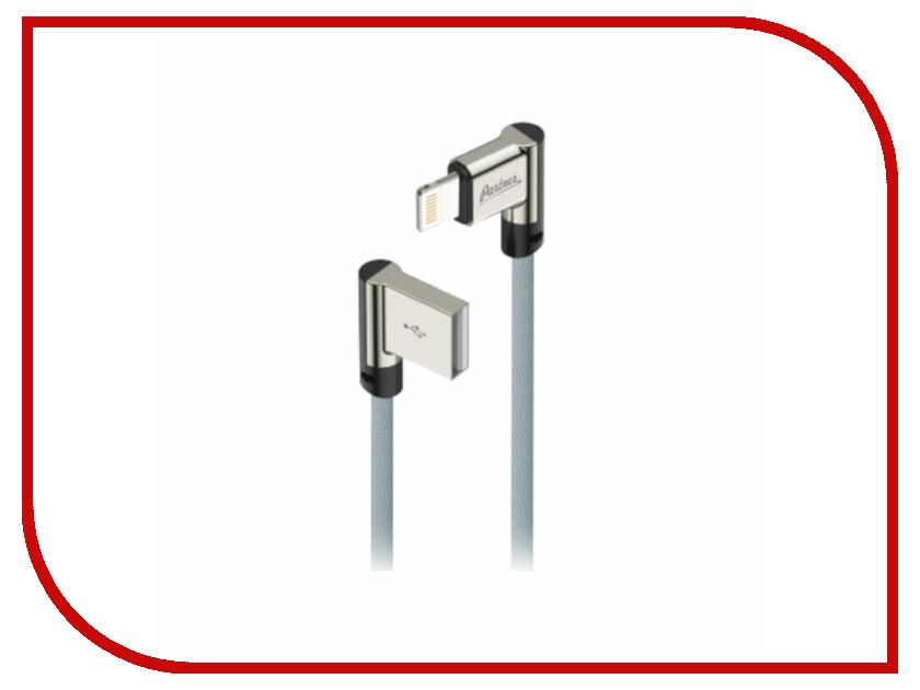 все цены на Аксессуар Partner USB 2.0 - lightning 1m Grey угловой ПР038385