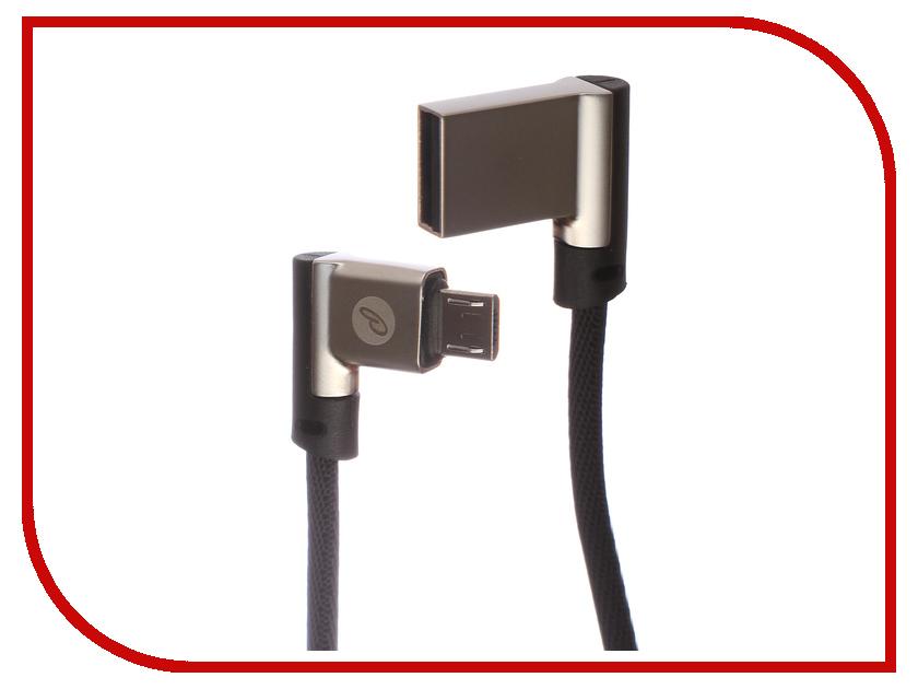 Аксессуар Partner USB 2.0 - MicroUSB 1m Black угловой ПР038384