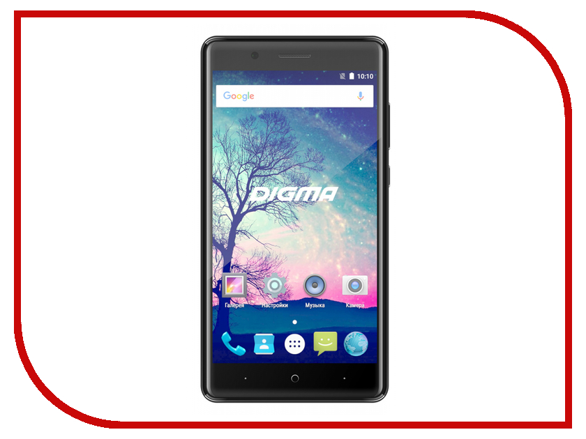 Сотовый телефон Digma Vox S508 3G Black сотовый телефон digma vox s505 3g white