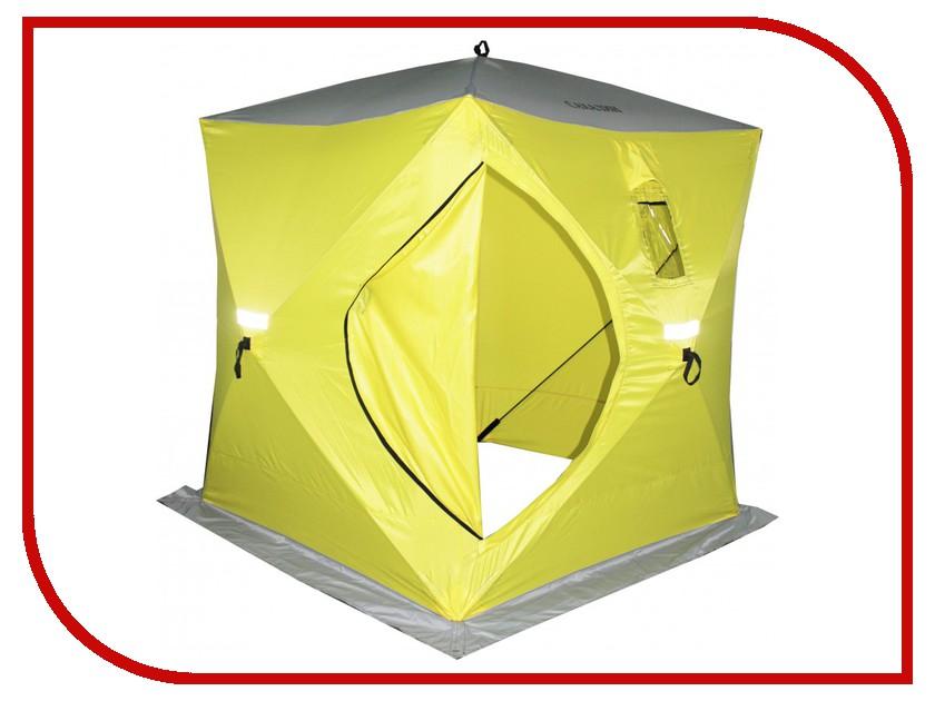 Палатка Сахалин 2 150x150x170cm Yellow-Grey