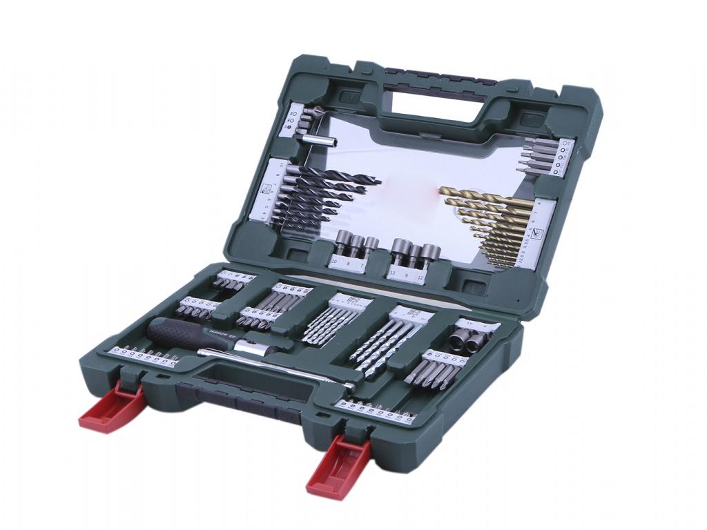 Набор инструмента Bosch V-Line-91 91 предмет 2607017195 цена и фото