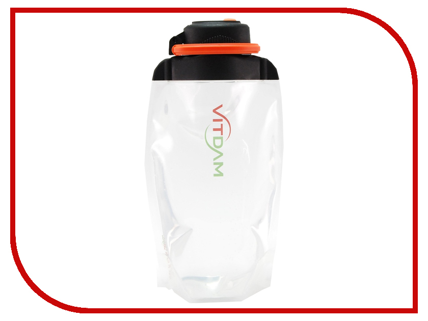 Бутылка VITDAM 500ml Transparent поильники vitdam складная эко бутылка с карабином 500 мл