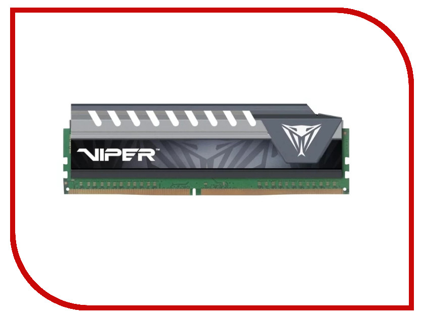 Модуль памяти Patriot Memory Viper Elite DDR4 DIMM 2400MHz PC4-19200 CL16 - 8Gb PVE48G240C6GY модуль памяти patriot memory ddr4 so dimm 2400mhz pc4 19200 cl17 4gb psd44g240041s