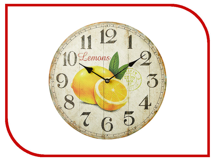 Часы Delta МДФ Лимон 34cm DT-0143 часы delta dt2 0034
