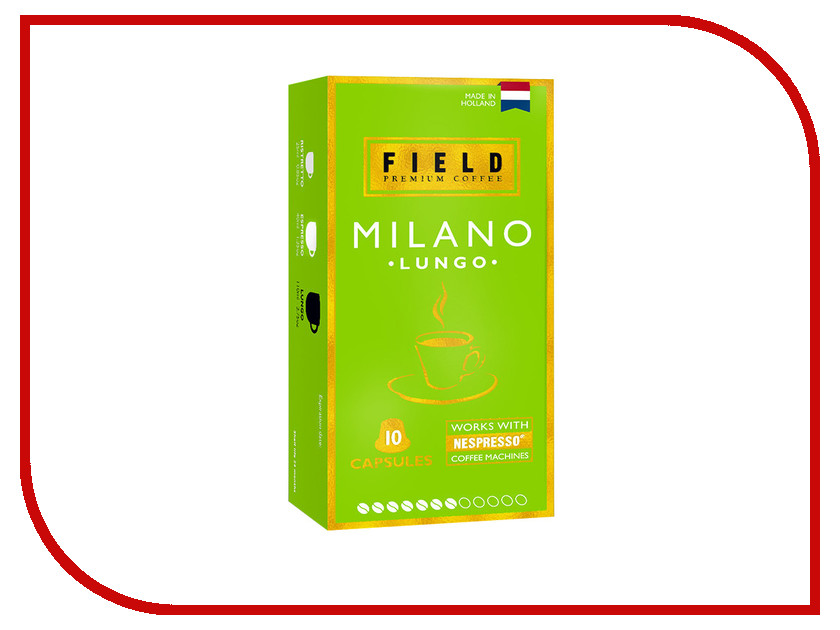 Капсулы Field Premium Coffee Lungo Milano 10шт saswata ghosh coherent effects on field induced transitions