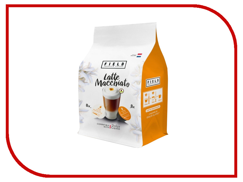Капсулы Field Premium Coffee Latte Macchiato 16шт кофе tassimo кофе в капсулах jacobs latte macchiato 8 порций