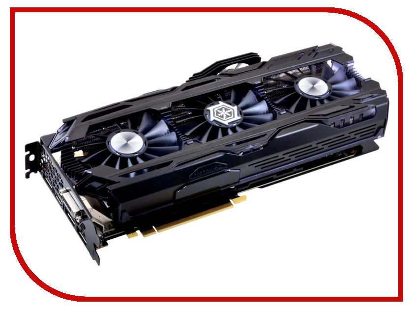 Видеокарта Inno3D GeForce GTX 1080 Ti iChill X4 1607Mhz PCI-E 3.0 11264Mb 11400Mhz 352 bit 3xDP DVI HDMI HDCP C108T4-1SDN-Q6MNX видеокарта 6144mb msi geforce gtx 1060 gaming x 6g pci e 192bit gddr5 dvi hdmi dp hdcp retail