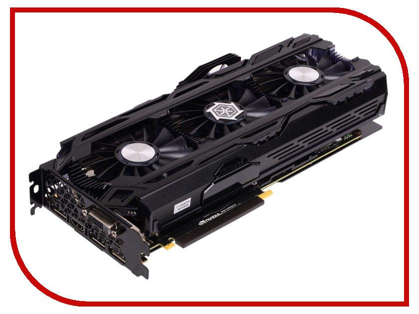 Видеокарта Inno3D GeForce GTX 1080 Ti iChill X4 1569Mhz PCI-E 3.0 11264Mb 11400Mhz 352 bit 3xDP DVI HDMI HDCP C108T4C-1SDN-Q6MNX видеокарта 6144mb msi geforce gtx 1060 gaming x 6g pci e 192bit gddr5 dvi hdmi dp hdcp retail