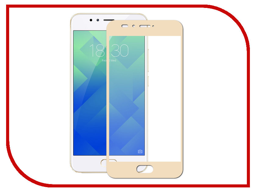 Аксессуар Закаленное стекло для Meizu M6 DF Full Screen mzColor-18 Gold моноблок 23 8 lenovo v530 24 1920 x 1080 intel core i3 8100t 4gb 500 gb intel uhd graphics 630 windows 10 professional черный 10uw0002ru 10uw0002ru
