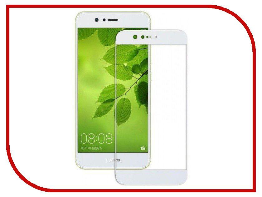 Аксессуар Закаленное стекло Huawei Nova 2 Plus DF Full Screen hwColor-19 White аксессуар закаленное стекло df full screen для iphone 7 plus 8 plus icolor 16 white