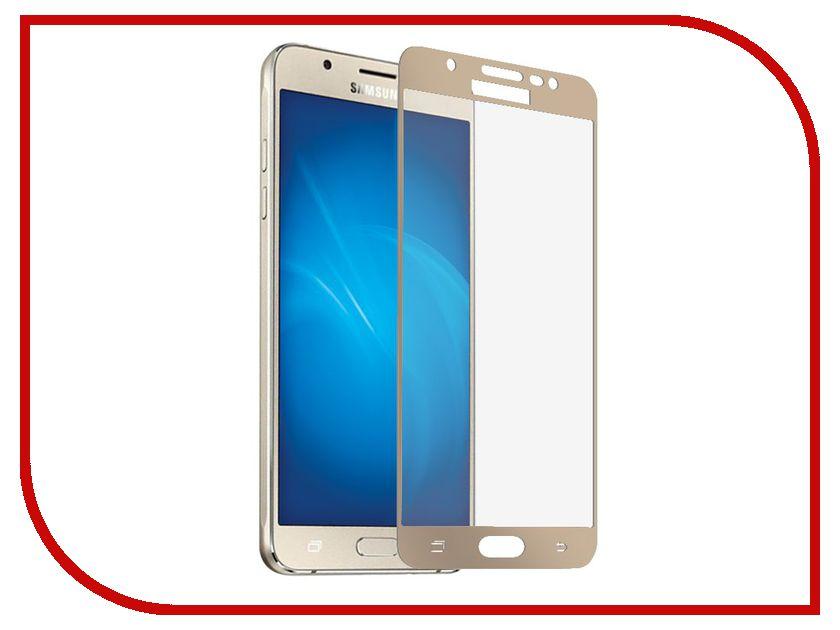Аксессуар Защитное стекло для Samsung Galaxy J3 2017 Onext с рамкой Gold 41440 аксессуар защитное стекло samsung galaxy s6 edge onext 3d transparent 41163
