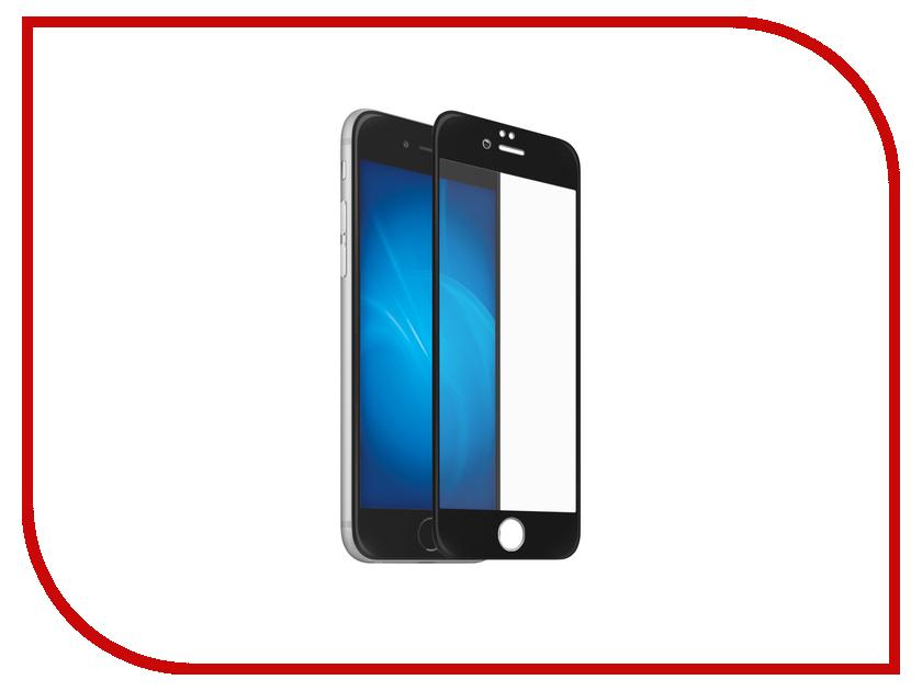 Аксессуар Защитное стекло Onext для APPLE iPhone 6/6S с рамкой Black 41490 аксессуар защитное стекло onext 3d для iphone 6 6s white 41002