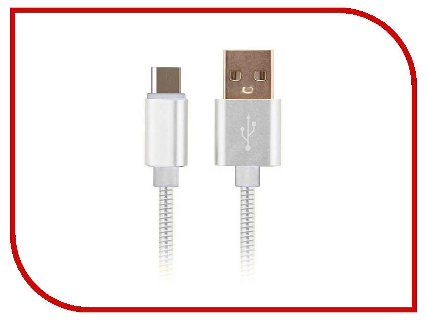 Аксессуар Moisture USB - microUSB 2.1A Silver