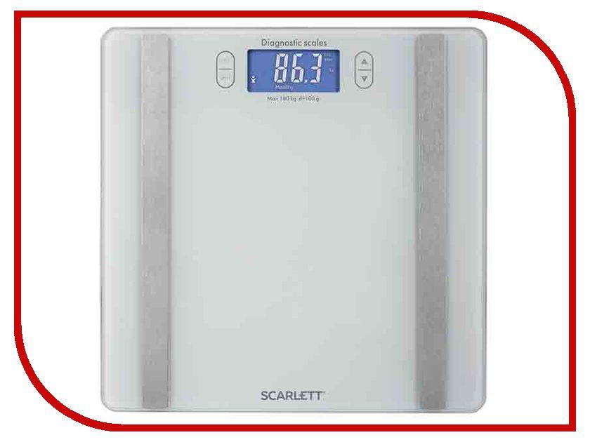 Весы напольные Scarlett SC-BS33ED85 White весы напольные scarlett sc bs33e00