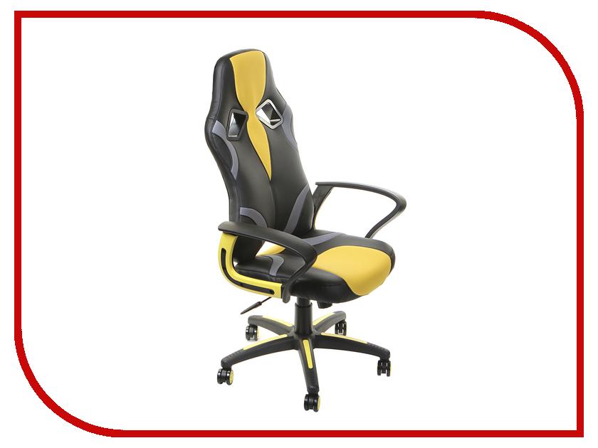 Компьютерное кресло TetChair Runner Black-Yellow 36-6/tw27/tw-12 кресло tetchair ostin ткань серый бронзовый мираж грей tw 21