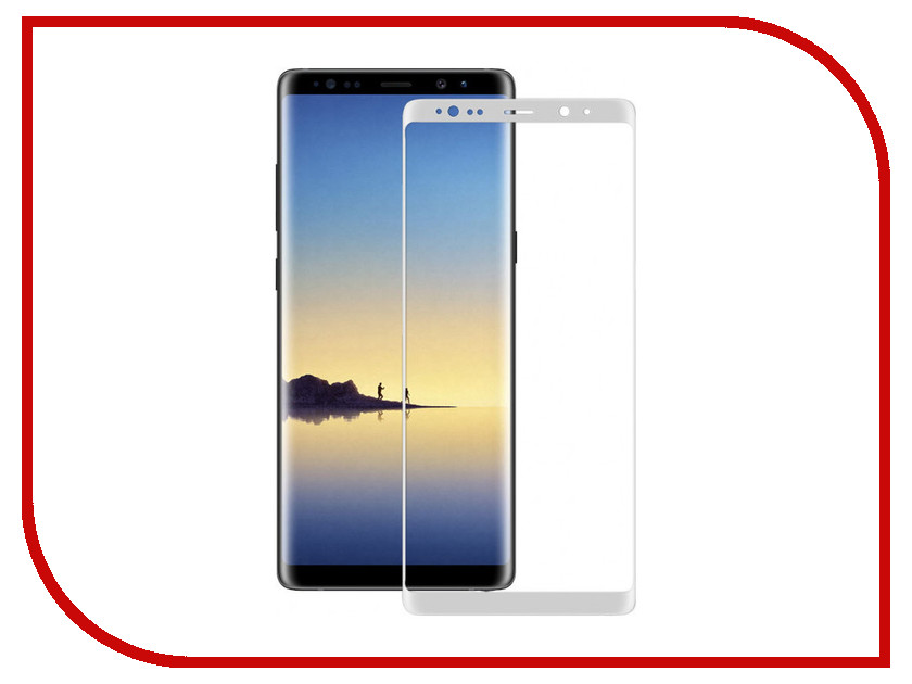 Аксессуар Защитное стекло Samsung Galaxy Note 8 Ainy Full Screen Cover 3D 0.2mm White аксессуар защитное стекло samsung galaxy j7 2017 ainy full screen cover 0 33mm white