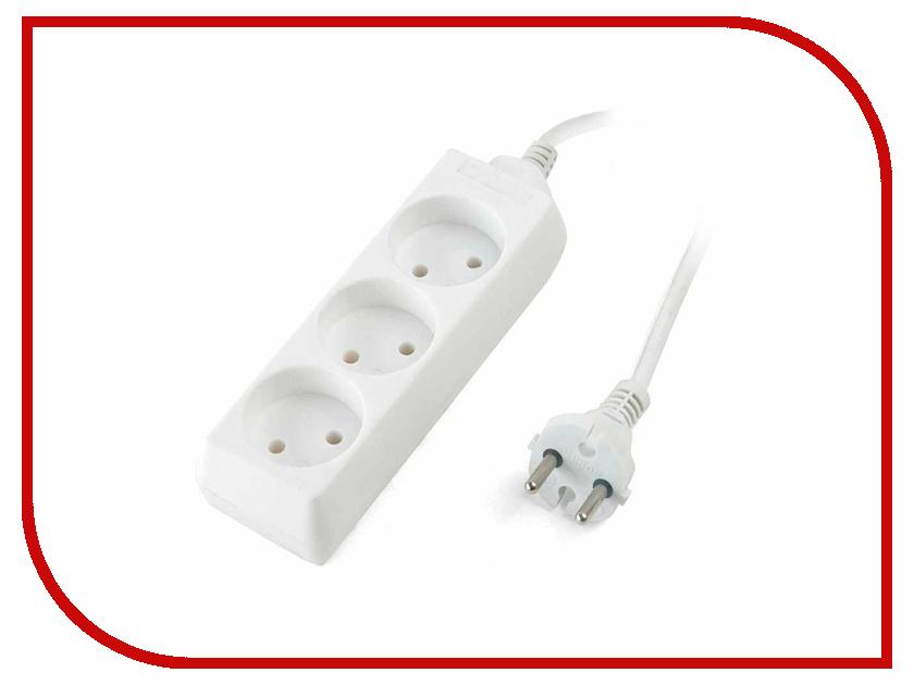 Удлинитель SUPRA 3 Sockets 1.5m White S-3-1.5M удлинитель supra s 3 e 3m белый 3 розетки 3 м