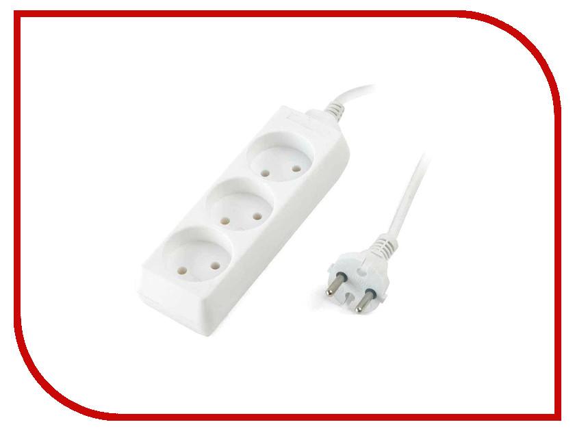 Удлинитель SUPRA 3 Sockets 5m White S-3-5M цена