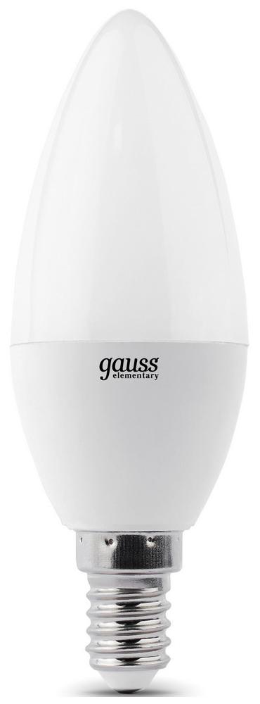цена Лампочка Gauss Elementary Candle 7W E14 4100K 33127T 3шт онлайн в 2017 году