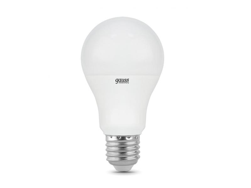 Лампочка Gauss Elementary E27 15W A60 6500K 23235
