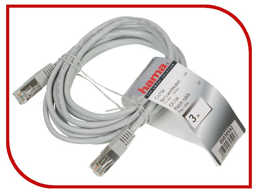 Сетевой кабель Hama Patch Cord cat.5e STP (RJ45) 3m H-30592 1m 2m 3m 5m 10m ethernet cable cat5 lan rj45 8pin 100mbps network patch cord for computer router