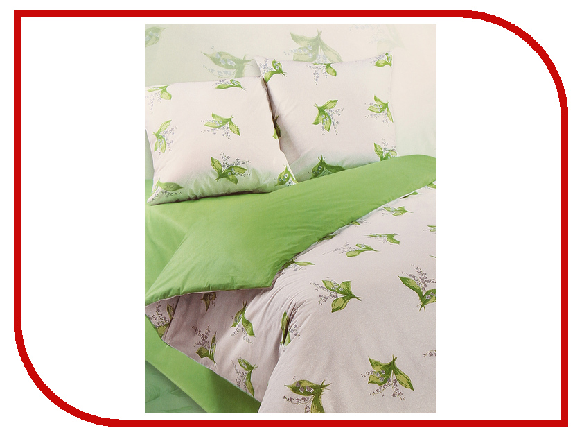 Постельное белье Экзотика Ландыш Комплект 2 спальный Поплин постельное белье экзотика кантри комплект 2 спальный поплин