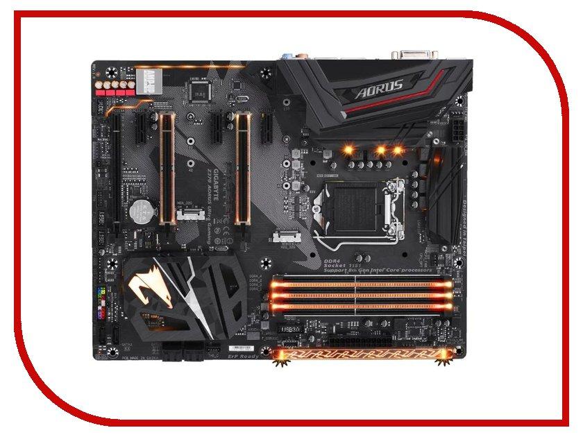 Материнская плата GigaByte GA-Z370 AORUS Ultra Gaming компьютер gigabyte brix gaming vr
