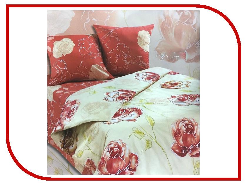 Постельное белье Экзотика Леди Комплект Евро Поплин постельное белье экзотика адель комплект 1 5 спальный поплин
