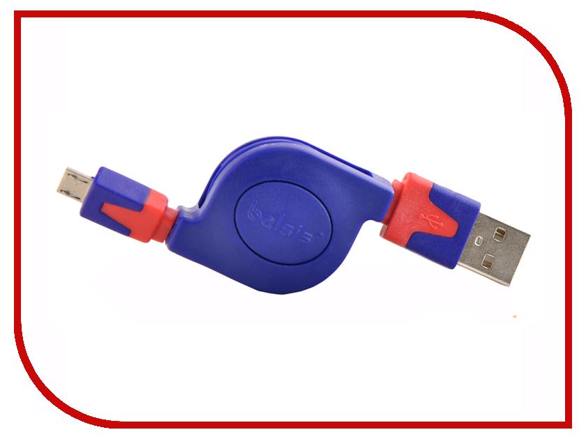 Фото Аксессуар Belsis USB 2.0 A - micro B (5 Pins) Blue-Red BGL1183