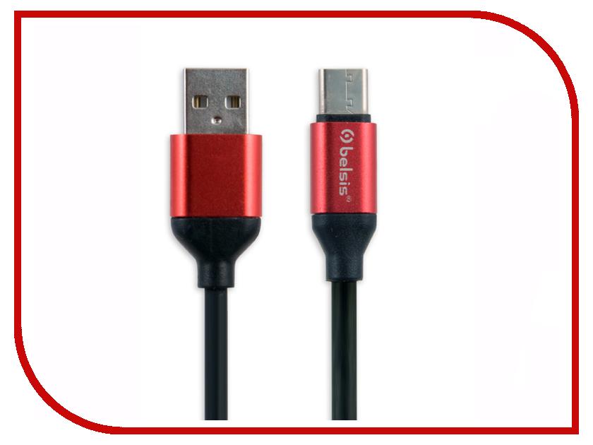 Аксессуар Belsis USB 2.0 A - USB Type-C 1m Black BS3008B