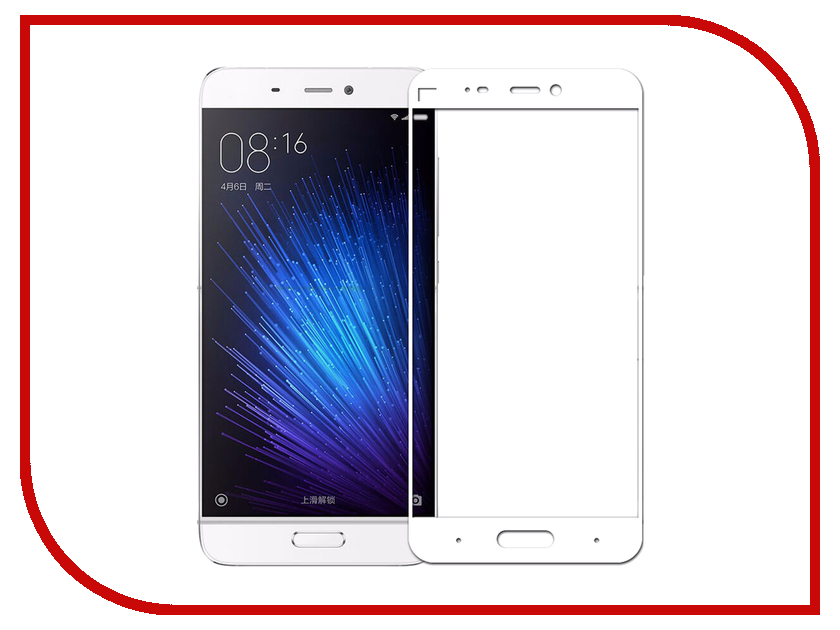 Аксессуар Защитное стекло для Xiaomi Mi 5 Innovation 2D Colorful White 10140 tested original 5 15 inch black white golden 1920x1080 display for xiaomi 5 mi 5 mi5 m5 lcd with touch screen replacement