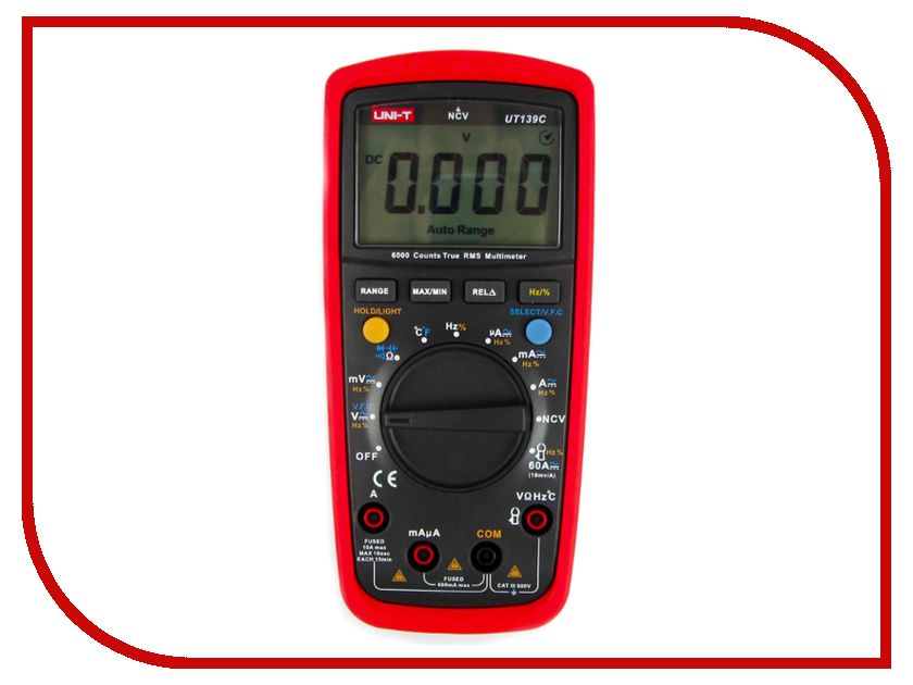 Мультиметр UNI-T UT139C uni t ut601 modern professional capacitance meters ohmmeters capacitor resistor w diode