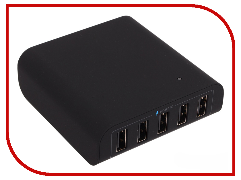 цена на Зарядное устройство Deppa 5 USB 8A Black DEP-11378