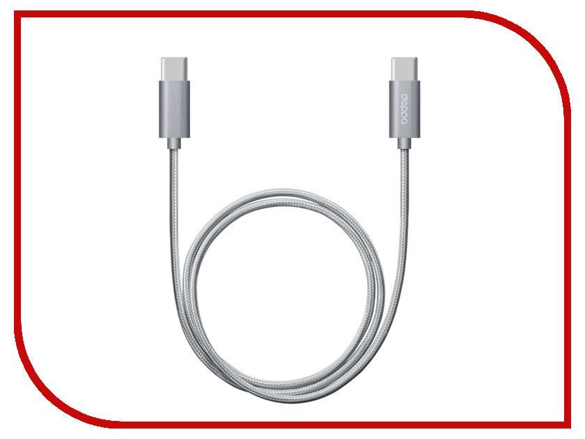 Аксессуар Deppa USB Type-C - USB Type-C 1.2m Aluminium-Gray DEP-72248 аксессуар deppa usb type c microusb dep 73116