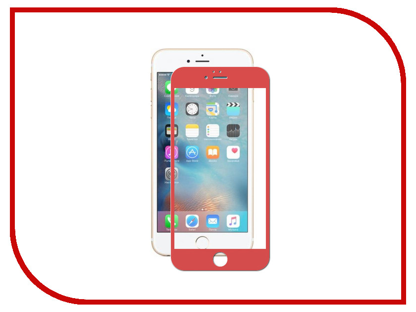 Аксессуар Защитное стекло Innovation 5D для APPLE iPhone 6 Plus / 6S Plus Red 10050 benks magic kr pro 0 15mm 3d curved tempered glass screen protector for iphone 6s plus 6 plus full cover white