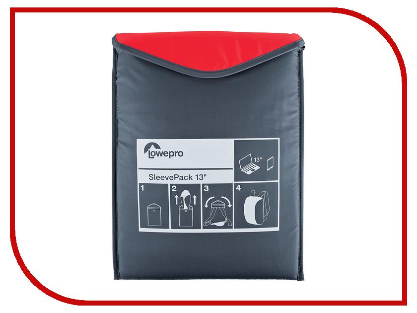 Аксессуар Сумка-рюкзак LowePro SleevePack 13 Red-Grey lowepro quick case 100