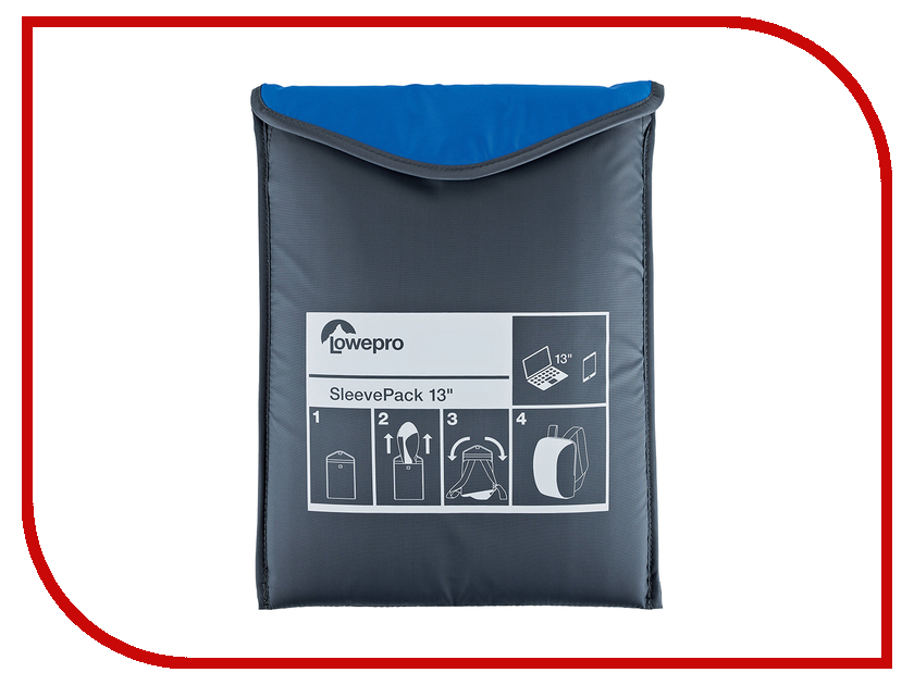 Аксессуар Сумка-рюкзак LowePro SleevePack 13 Light Blue-Grey