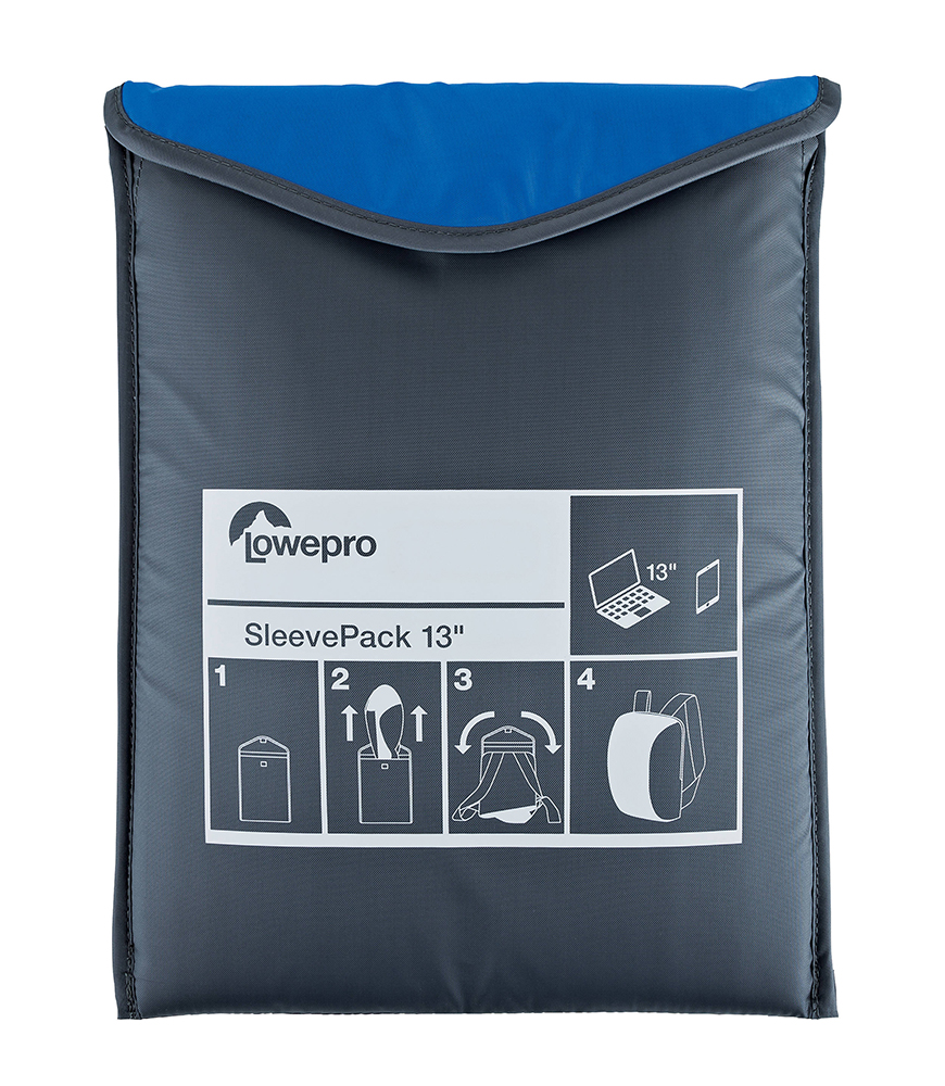 Сумка-рюкзак LowePro SleevePack 13 Light Blue-Grey