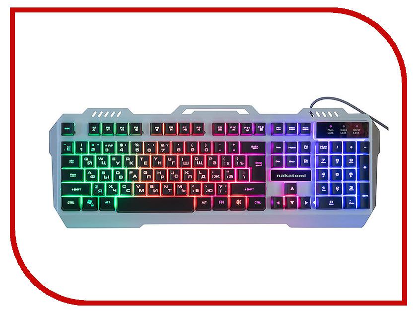 Клавиатура Nakatomi KG-35U Silver