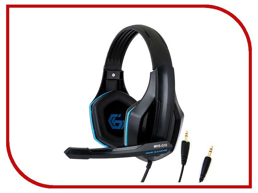 Гарнитура Gembird MHS-G10 Black-Blue наушники gembird mp3 ep15b black