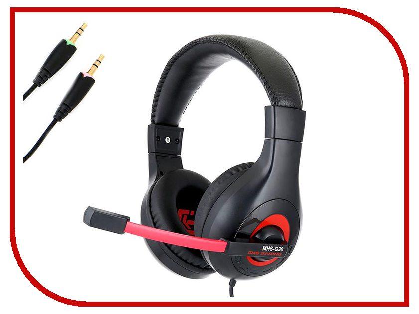 Гарнитура Gembird MHS-G30 Black-Red наушники gembird mp3 ep15b black