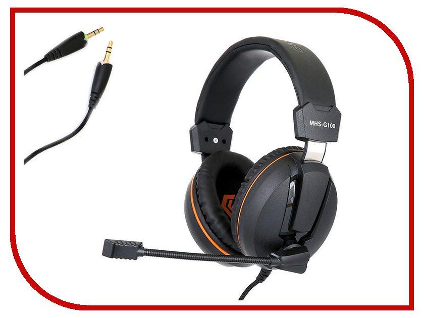 Гарнитура Gembird MHS-G100 Black-Orange наушники gembird mp3 ep15b black