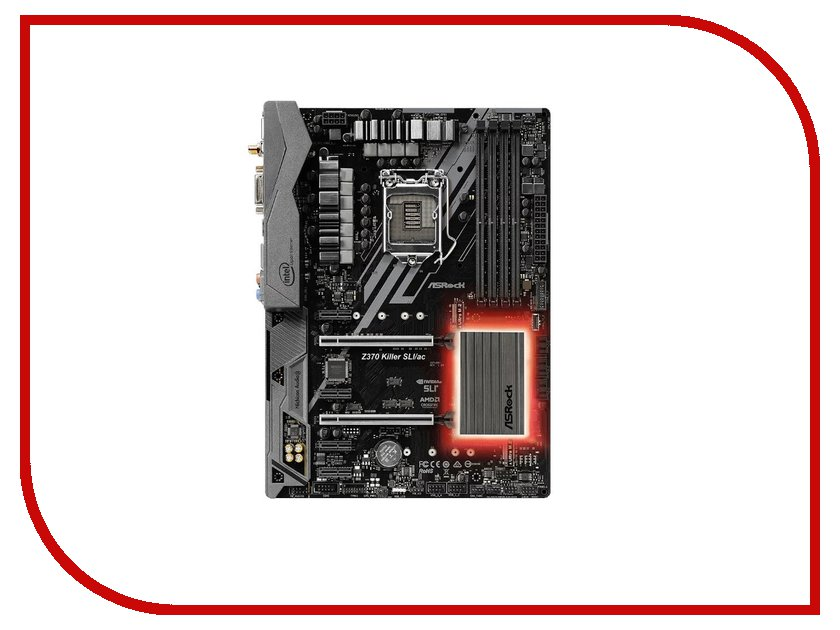 Материнская плата ASRock Z370 Killer Sli evga pro sli bridge hb 2 slot spacing sli мост 100 2w 0027 lr