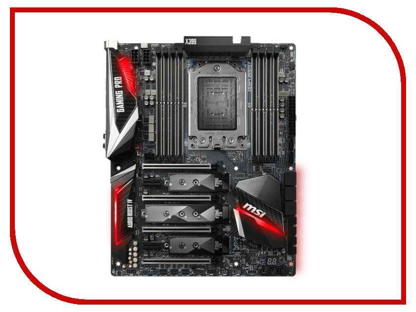 Материнская плата MSI X399 GAMING PRO CARBON AC msi original zh77a g43 motherboard ddr3 lga 1155 for i3 i5 i7 cpu 32gb usb3 0 sata3 h77 motherboard